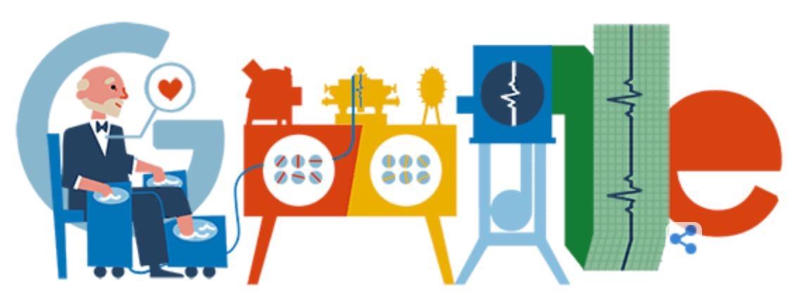 Googleロゴ「ウィレム・アイントホーフェン」に