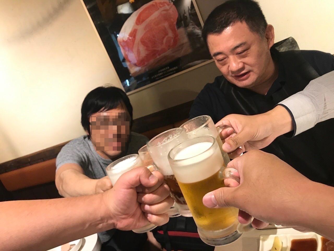 焼肉笹塚園 乾杯