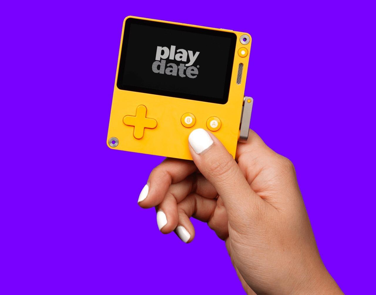 クランク搭載の新しい携帯ゲーム機「Playdate(プレイデート)」