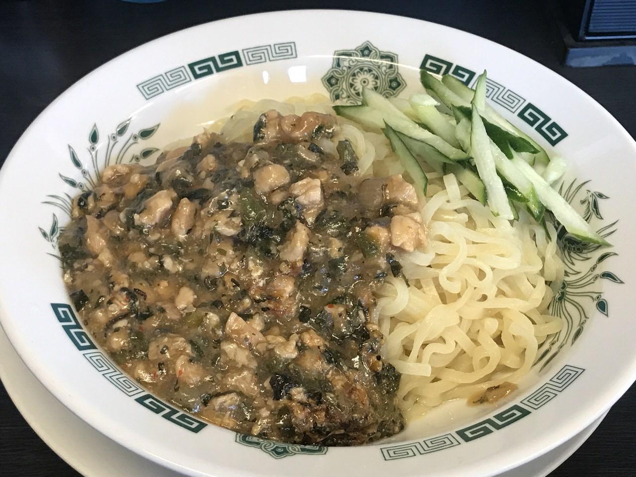 日高屋「ガパオ汁なし麺」2