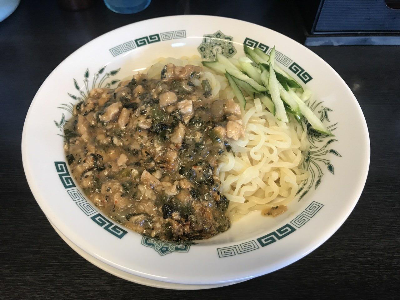 日高屋「ガパオ汁なし麺」1