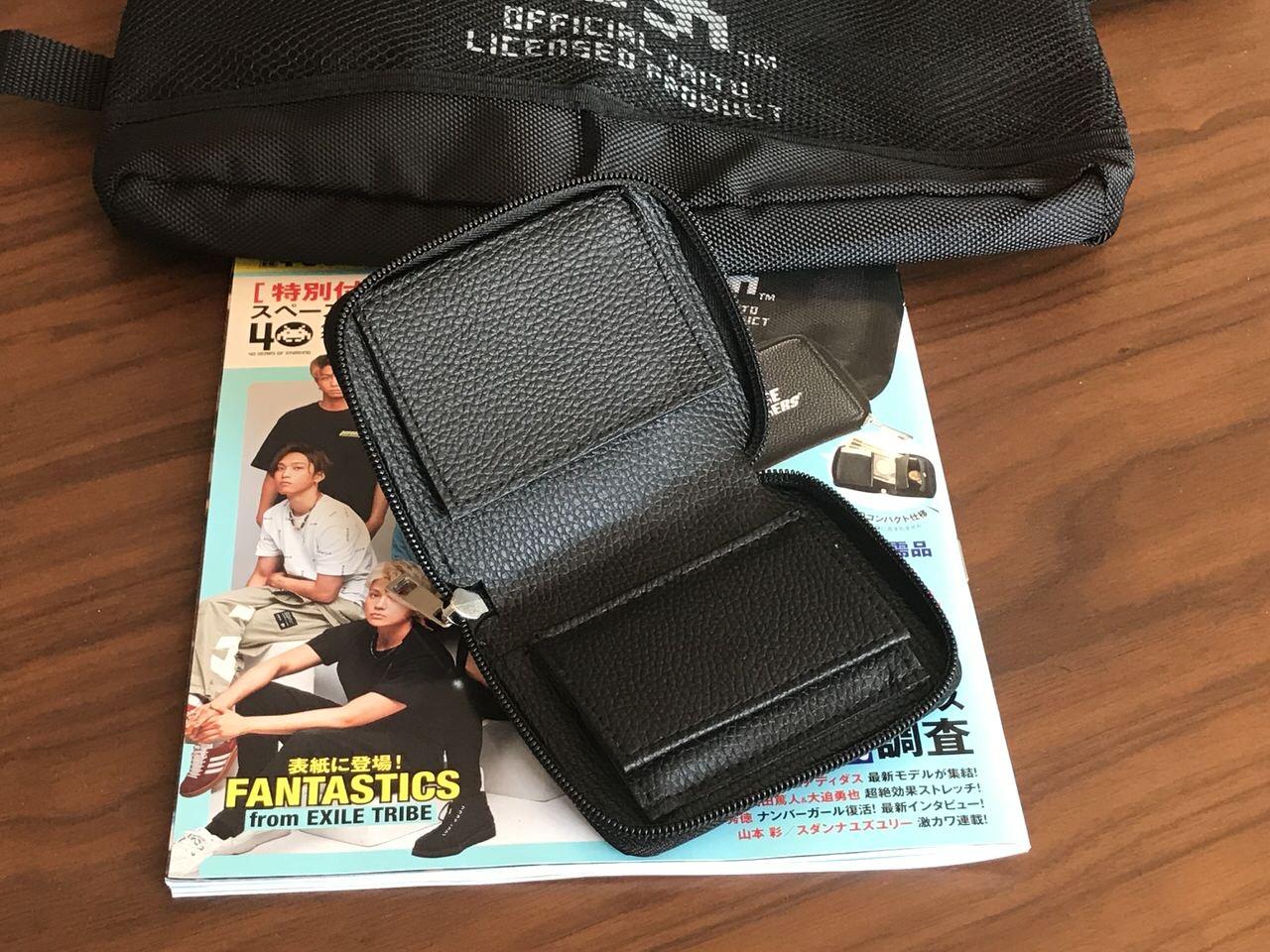 「smart」雑誌付録のインベーダーロゴ入りサコッシュと財布 8