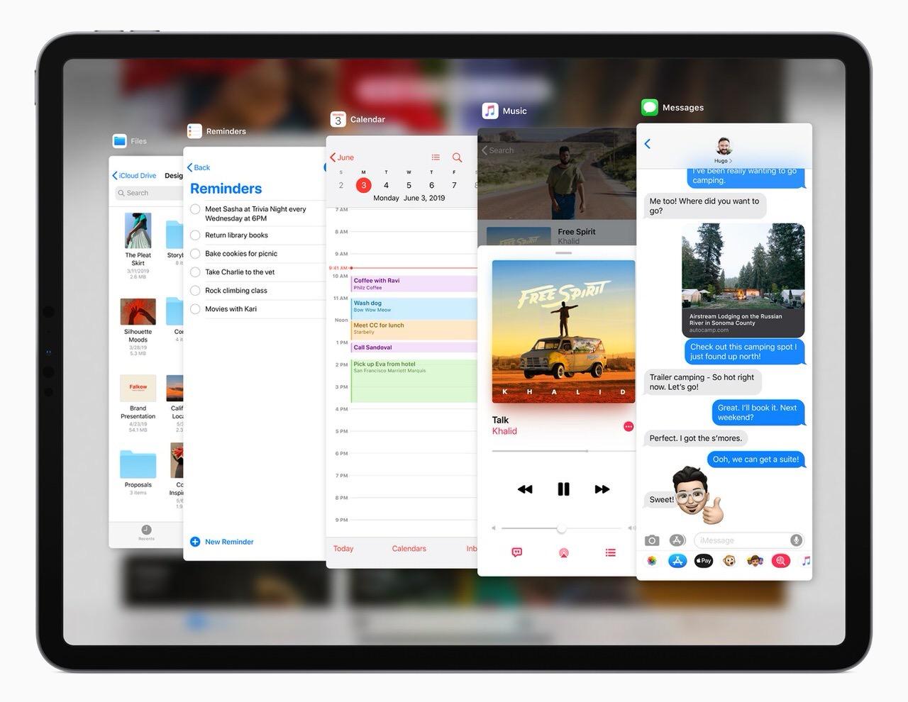 「iPadOS」新しいホームスクリーンにマルチタスクを強化したiPad向けOS