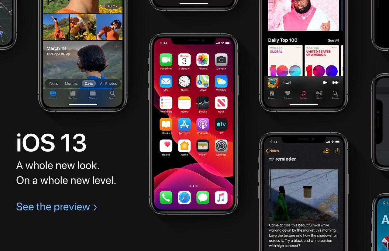 「iOS 13」ダークモード搭載、写真・カメラアプリを刷新