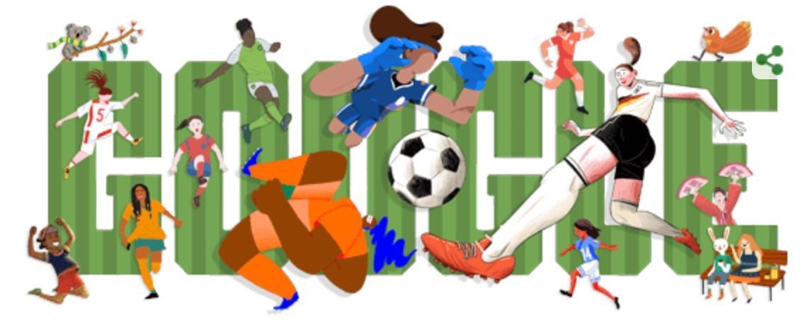 Googleロゴ「女子ワールドカップ 2019」に