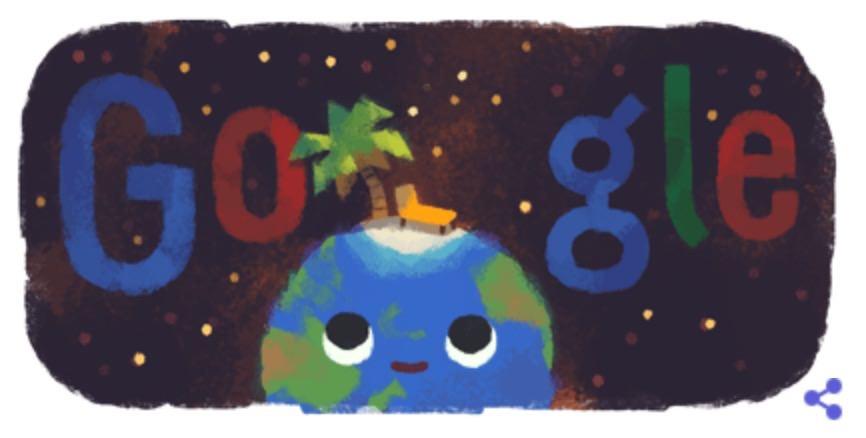 Googleロゴ「2019年 夏至」に