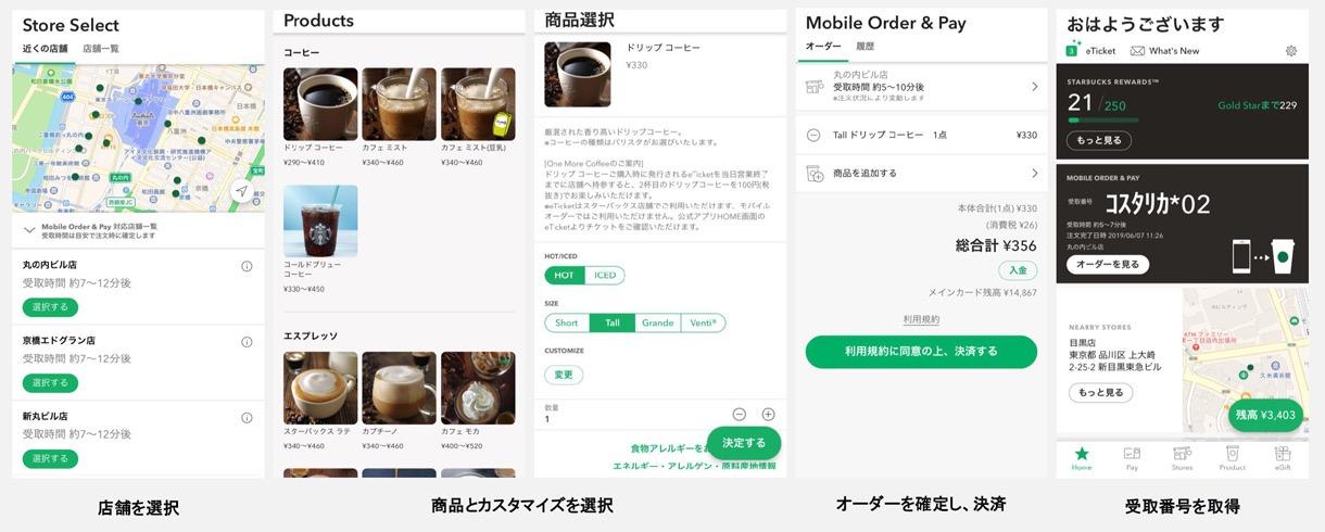 スターバックス、アプリで注文&決済できる「Mobile Order & Pay」開始