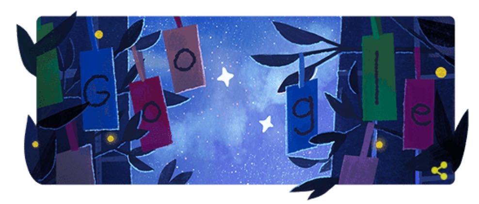 Googleロゴ「七夕 2019」に