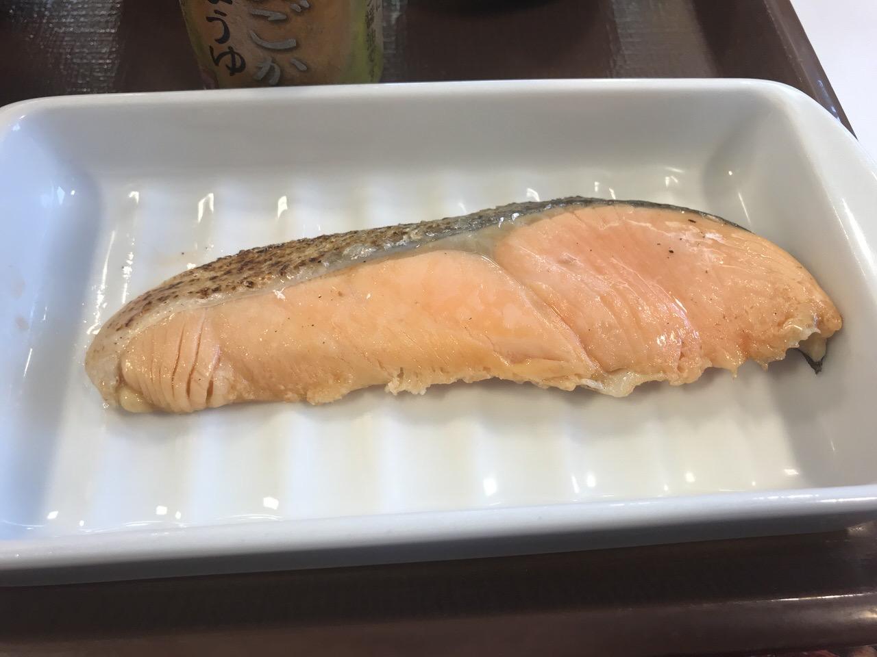 すき家の朝食「鮭朝食」2
