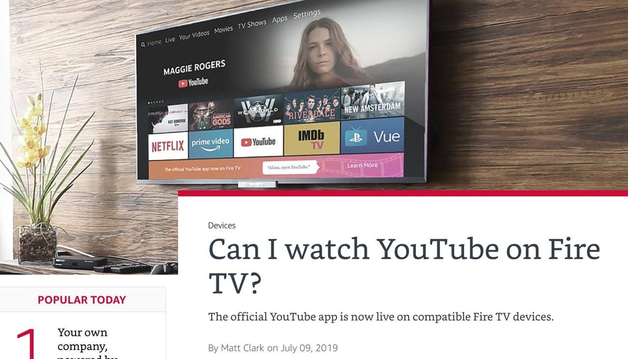 Fire TVシリーズ向けにYouTube公式アプリの配信が開始