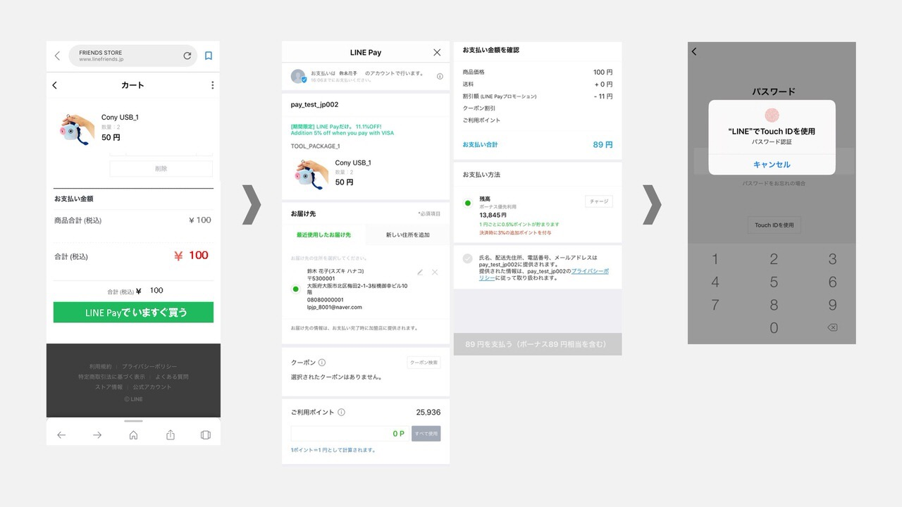 「LINE Checkout」LINE Pay加盟店で決済・配送までワンストップで提供