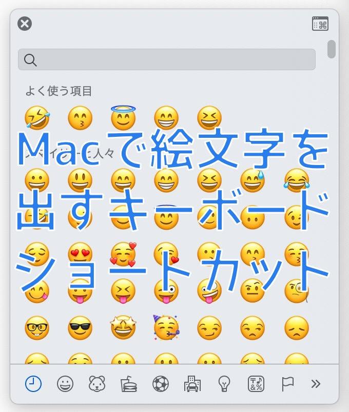 MacでiPhoneと同じように絵文字を入力する方法