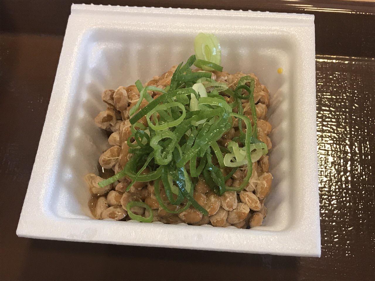 すき家の朝食「納豆朝食」2