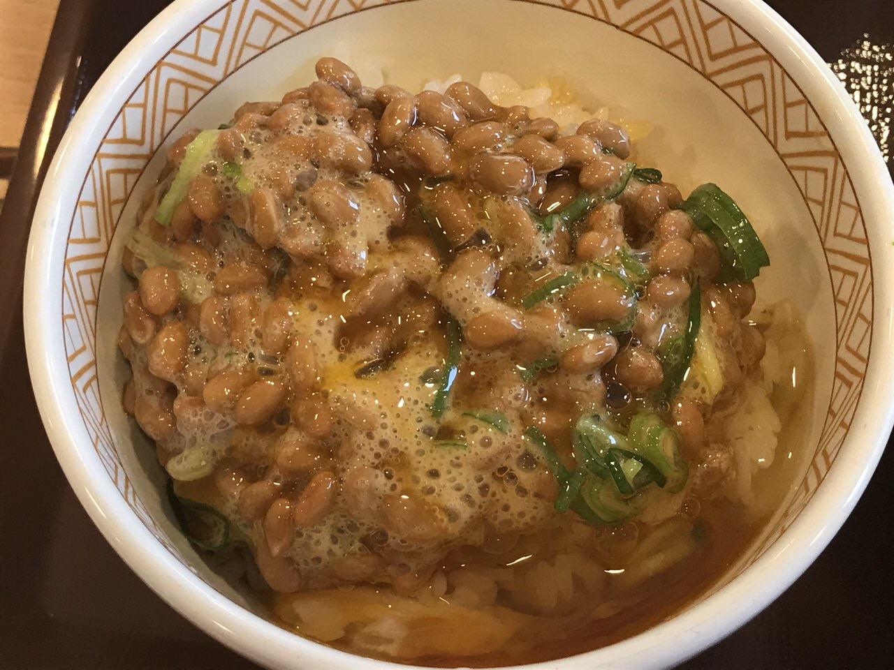 すき家の朝食「納豆朝食」3