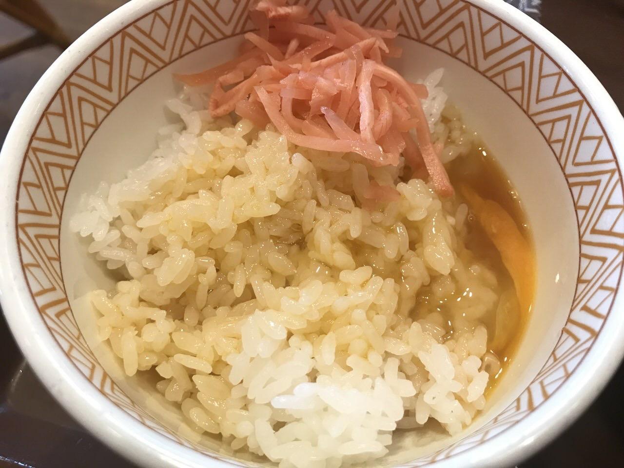 すき家の朝食「たまかけ朝食」2