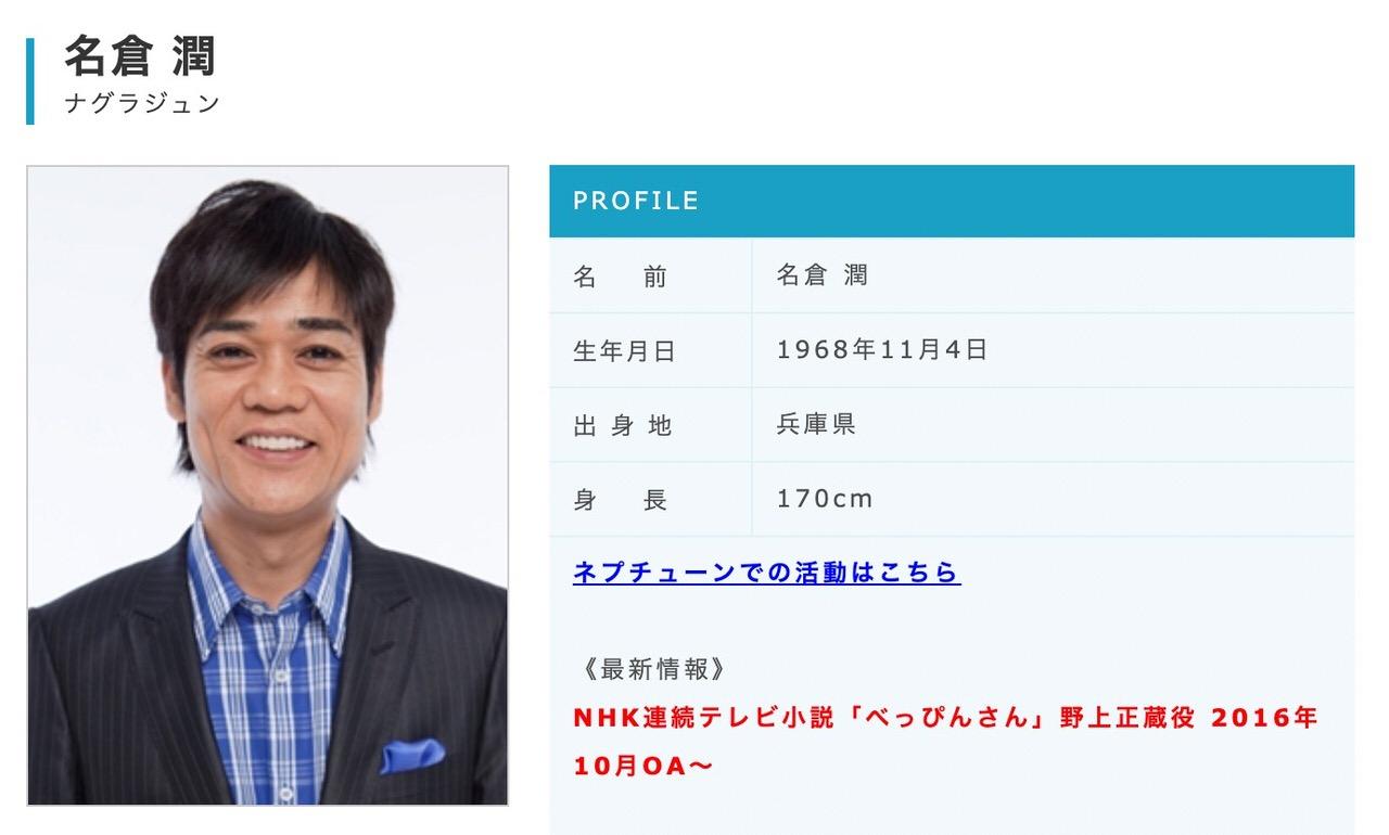 「ネプチューン」名倉潤、うつ病で2ヶ月休養を発表