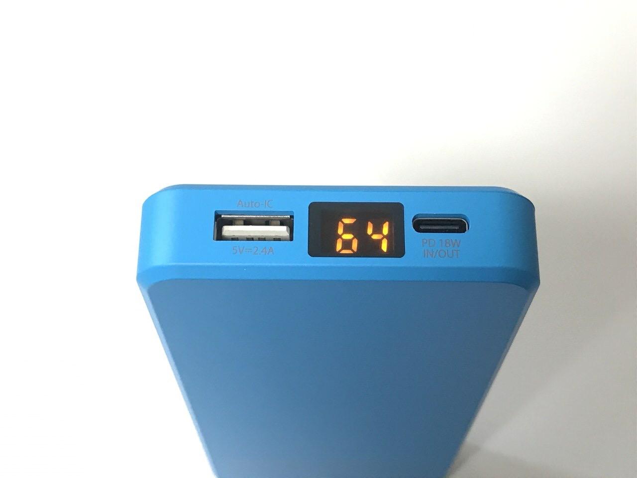 PD対応薄型の10,000mAhモバイルバッテリー「cheero Stream 10000mAh with Power Delivery 18W」バッテリー残量も1%刻みで分かりやすい!
