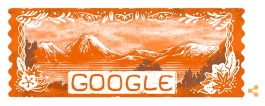 Googleロゴ「山の日」に