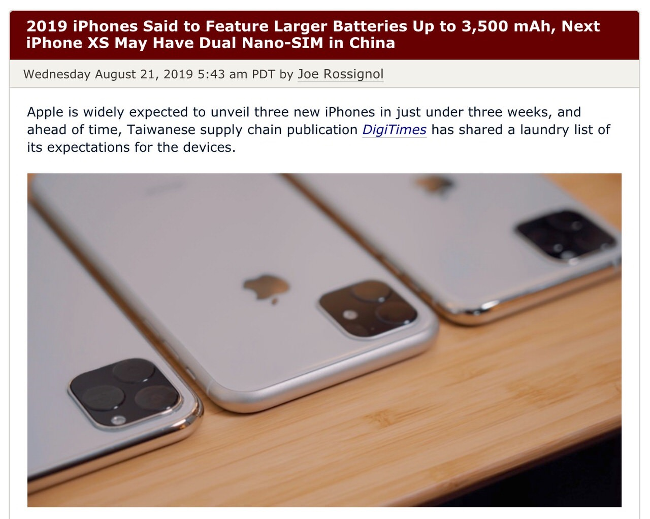 「iPhone 11」と言われる次期iPhoneはバッテリー容量が増える等スペックまとめ