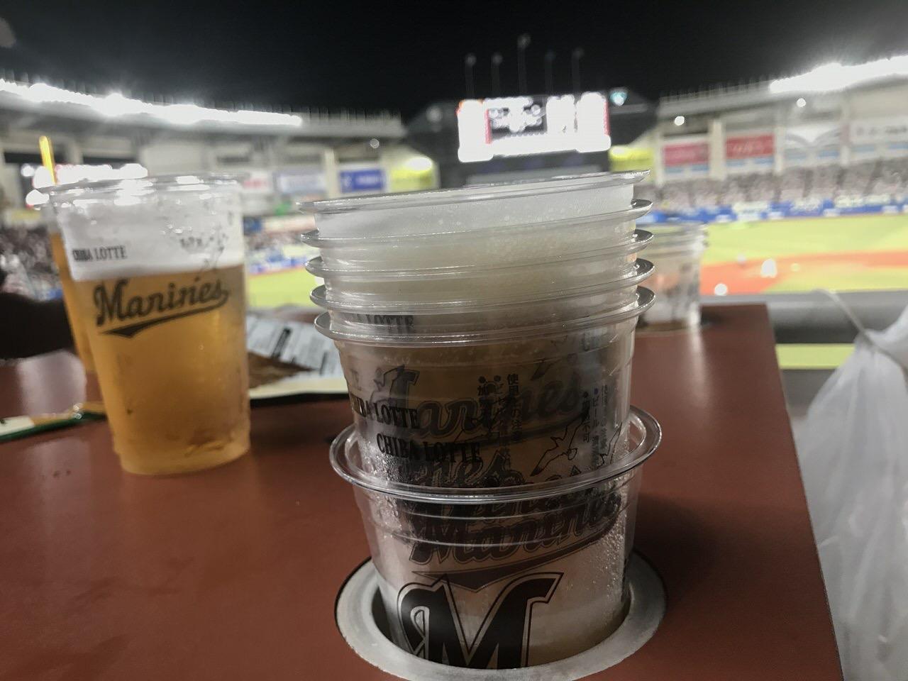 マリンスタジアム「ビール半額デー」過去最高の41,984杯に少しだけ貢献してきた!