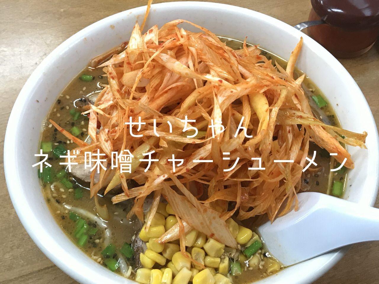 「清ちゃんラーメン」埼スタ帰りにネギみそチャーシューメン(浦和美園)