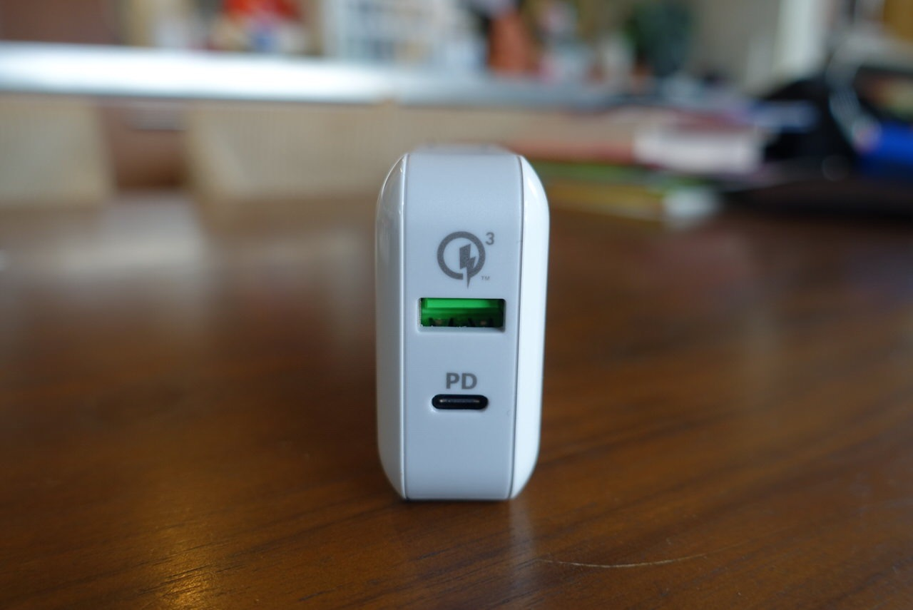 洗面器の中でカタカタしそうなPD&Quick Charge 3.0対応「cheero Smart USB Charger 48W(CHE-320)」