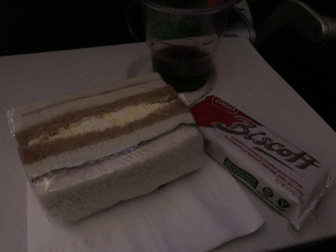 【エアカナダ】機内食や機内WiFi【AC6】8