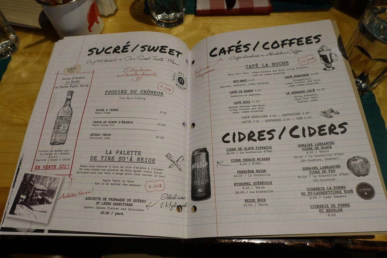 シュガーシャックのケベック料理「La Buche」30