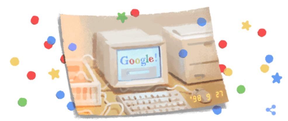 Googleロゴ「Google創立21周年記念」に