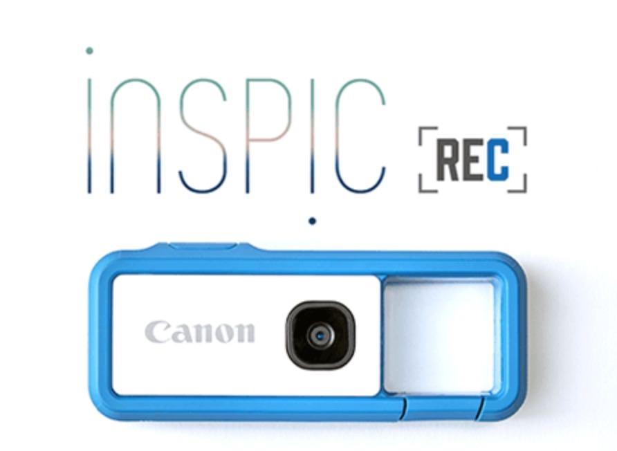 軽量コンパクトなウェアラブルデジカメCANON「iNSPiC REC」