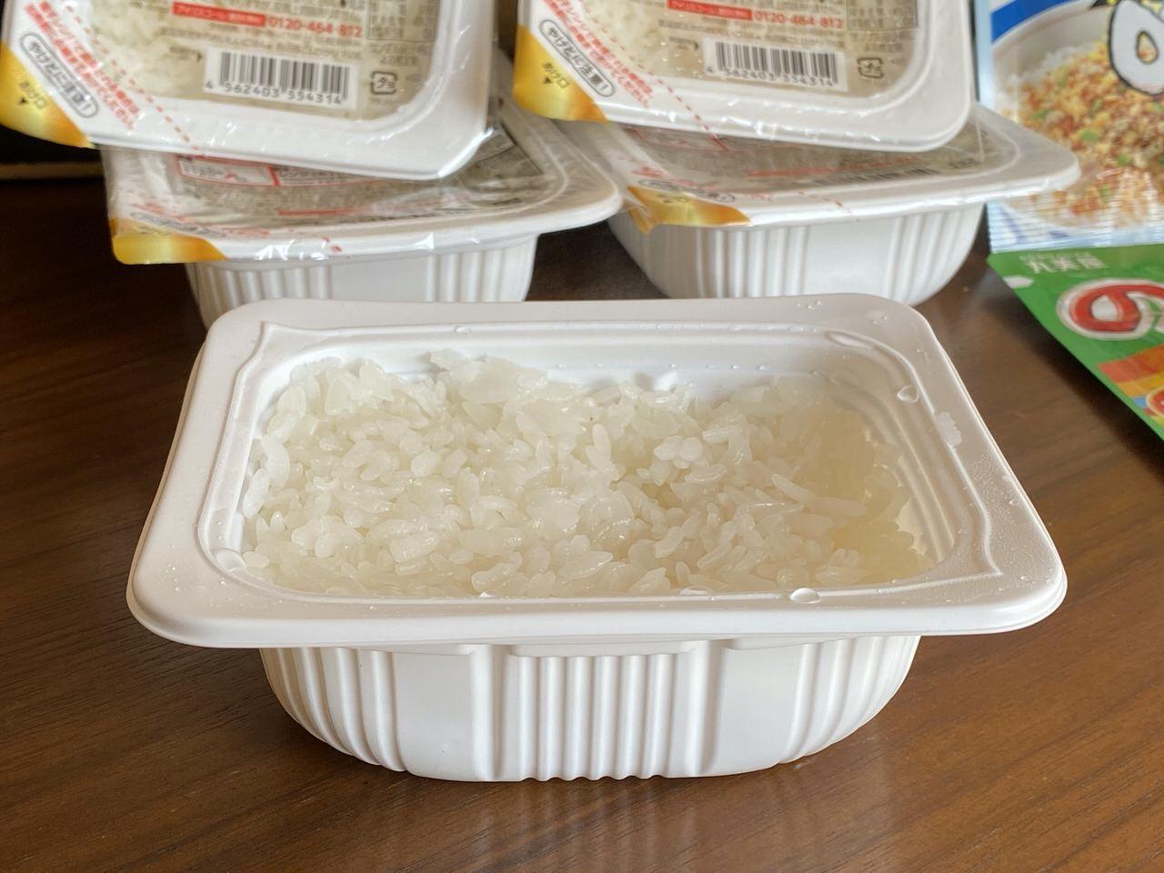 アイリスオーヤマ「低温製法米のおいしいごはん」8