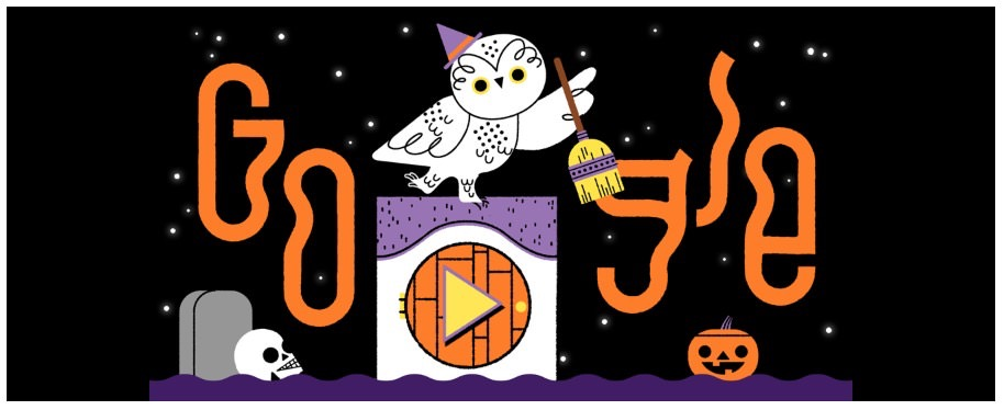 Googleロゴ「2019年ハロウィーン」に