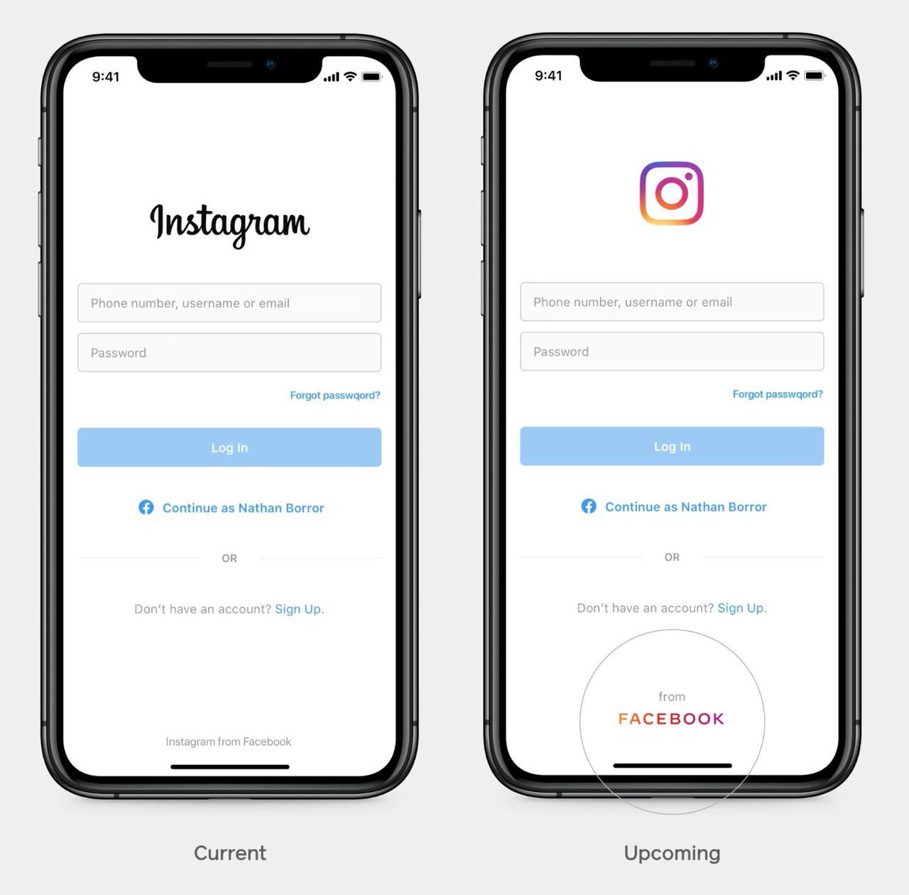 "「Facebook」新しい企業ロゴを発表 〜全てのアプリに""from Facebook""のロゴとしても追加"