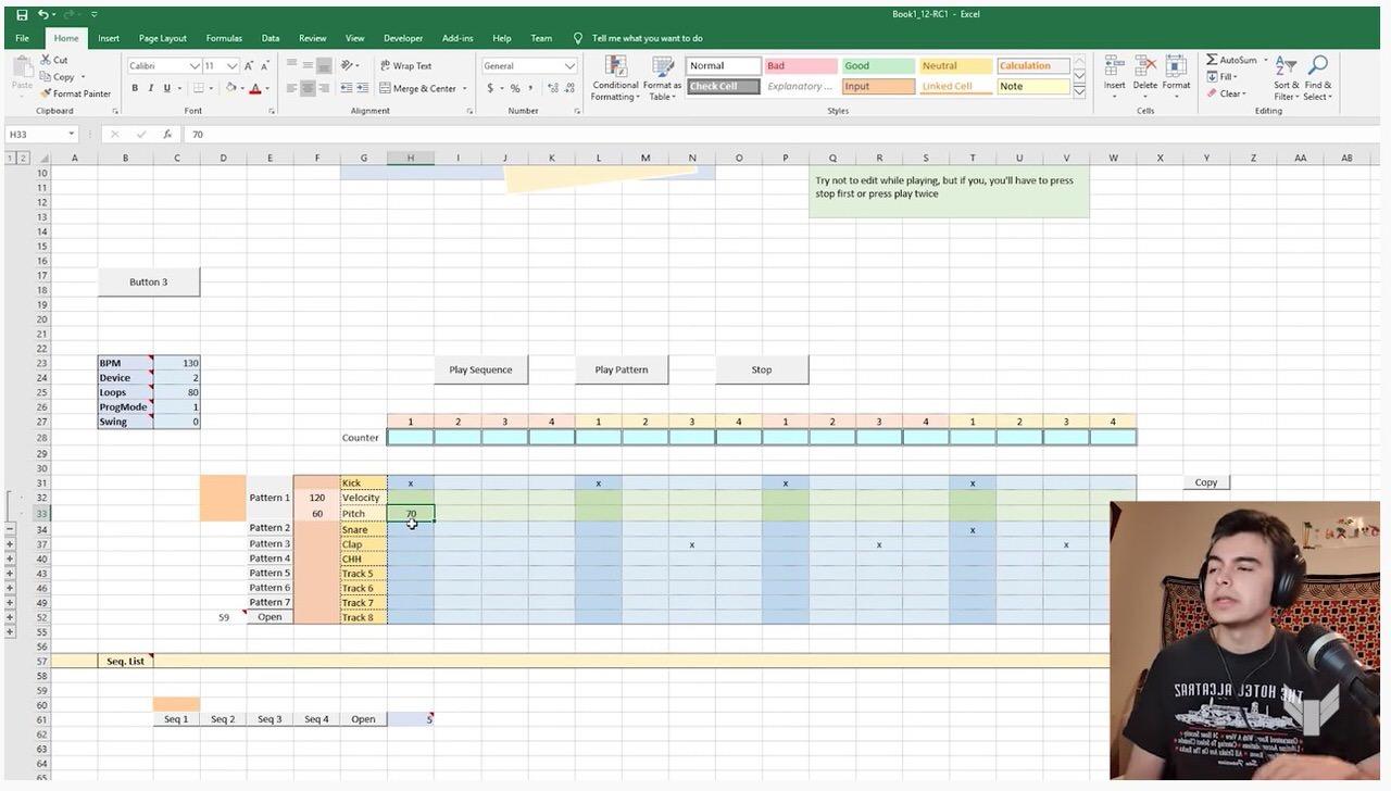 【動画】本当にズンタンズンタンしてる‥‥Excelでドラムマシンを作っちゃった人