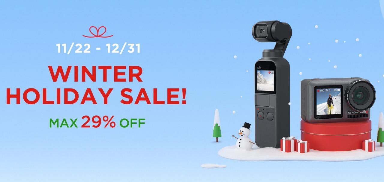 【DJI】Osmo Pocketは8,690円オフ!最大29%オフの「ウィンターホリデーセール」開催中