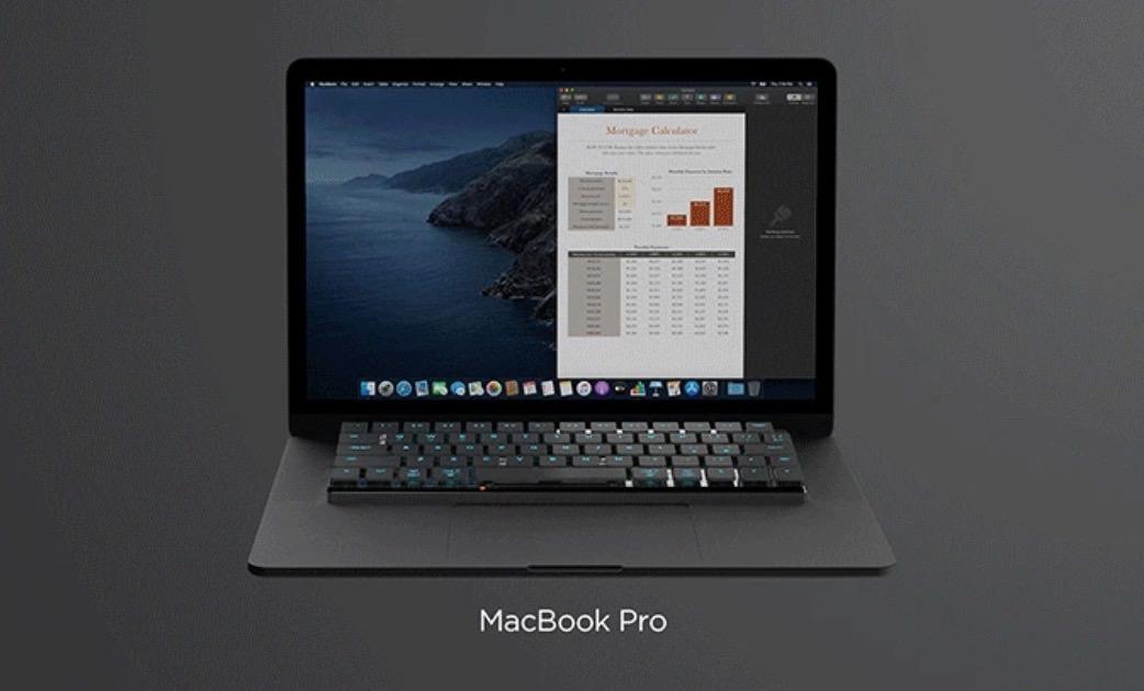 MacBookのキーボードの上に乗せて使うBluetoothメカニカルキーボード「NuType」iPad・iPhone・Surfaceでも使えるよ