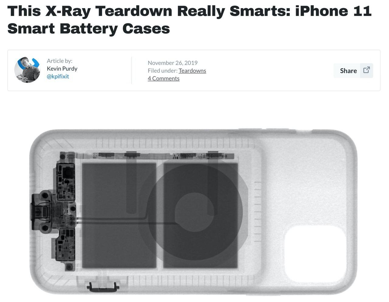 iPhone 11シリーズ向け純正ケース「Smart Battery Case with Wireless Charging」のカメラボタンはLightningに繋がっているらしい