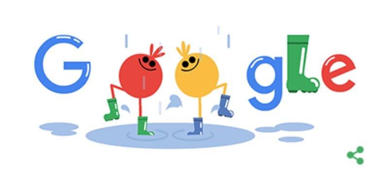 Googleロゴ「ウェリントン ブーツ」に