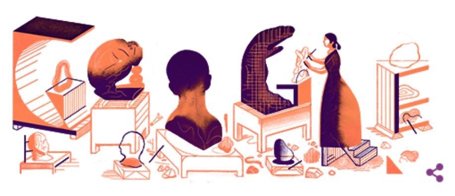 Googleロゴ「カミーユ・クローデル」に(フランスの彫刻家)