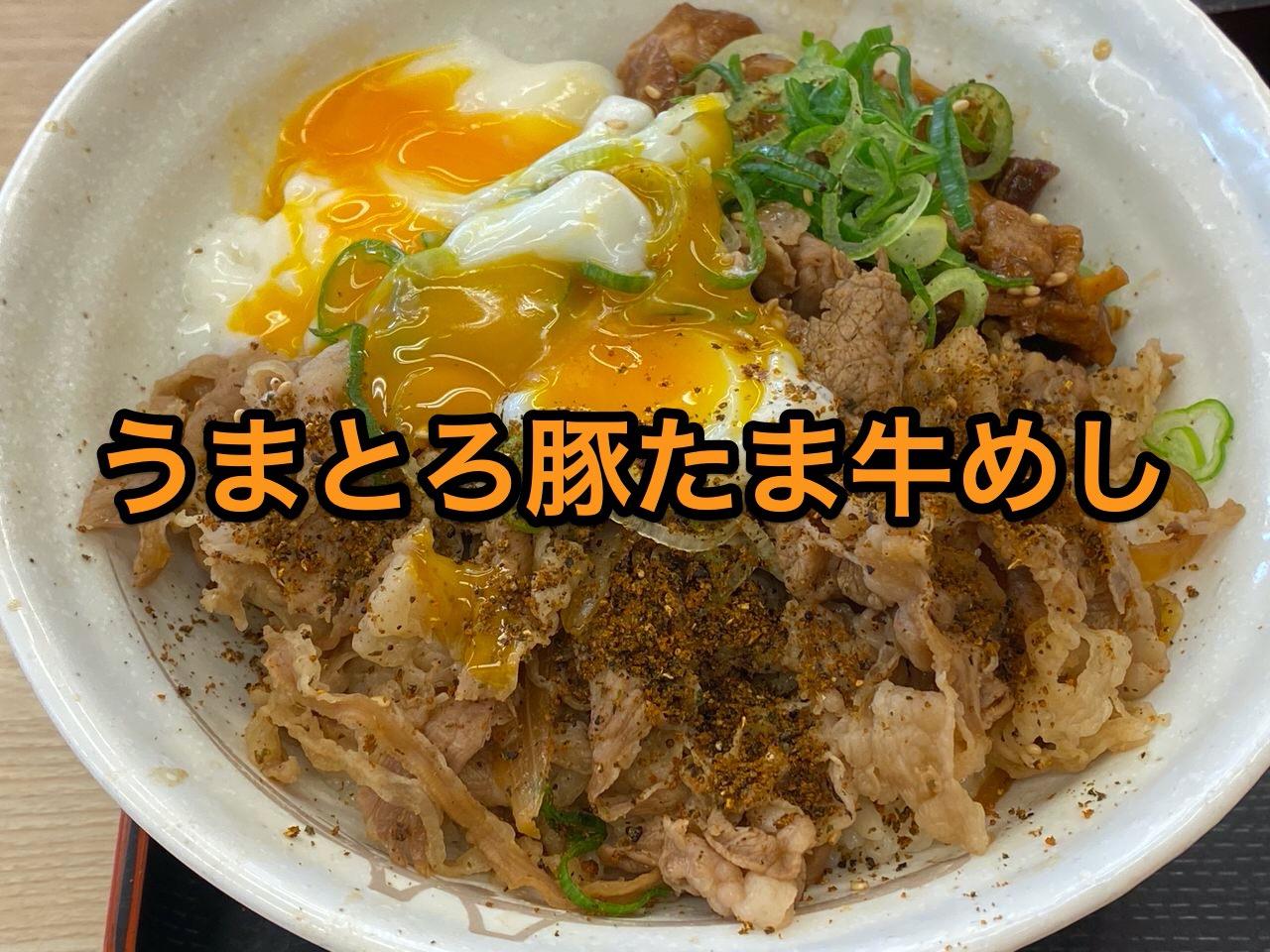 【松屋】「うまとろ豚たま牛めし」山椒たっぷりがオススメ!豚と牛と鶏をガッツリ食べる