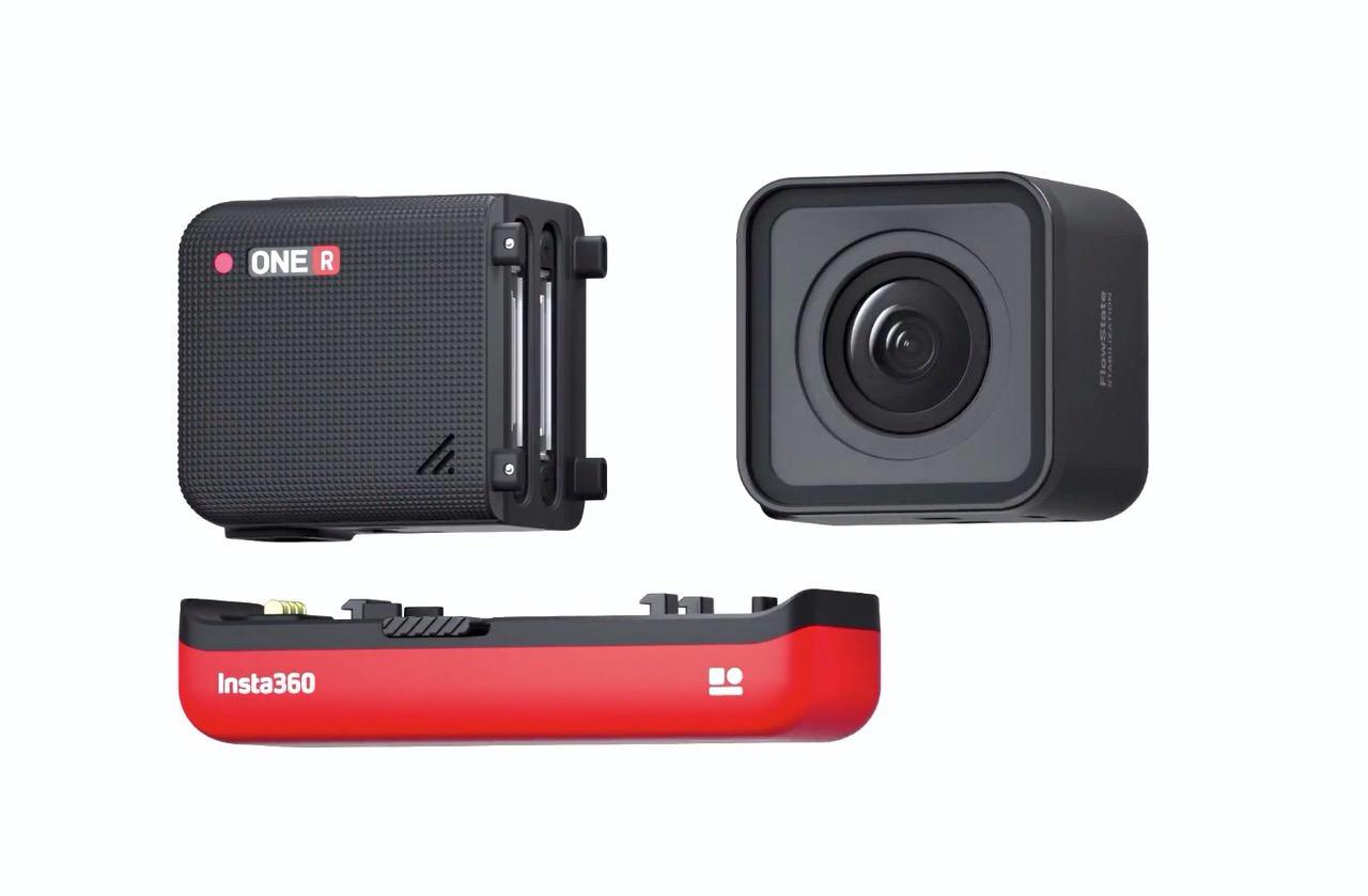 モジュール形式でレンズ交換可能なアクションカメラ「Insta360 ONE R」がそそる