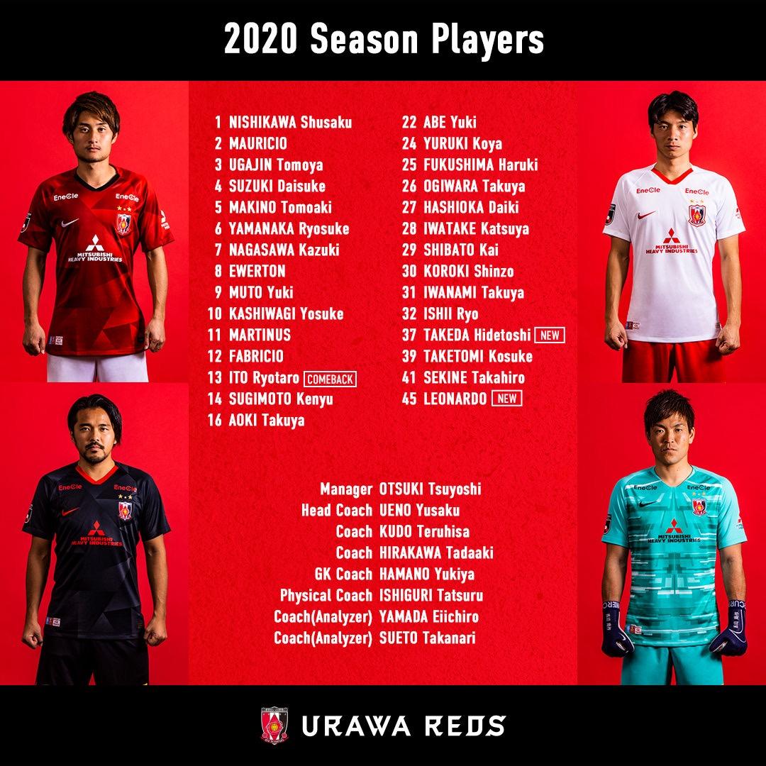 浦和レッズ、2020シーズンのトップチーム選手背番号を発表