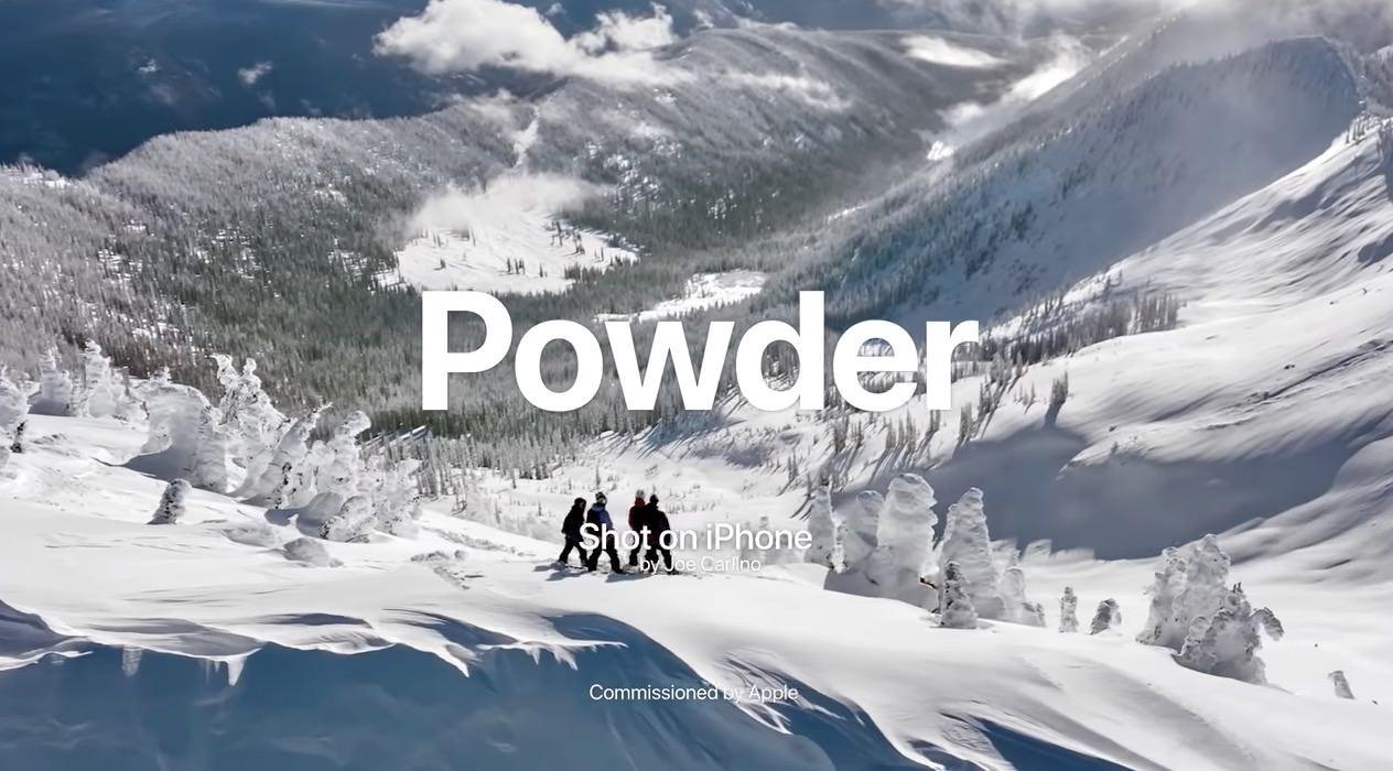 Apple、バックカントリーのスノーボードをiPhone 11 Proで撮影した動画「Powder: Backcountry Snowboarding at Baldface Lodge」公開