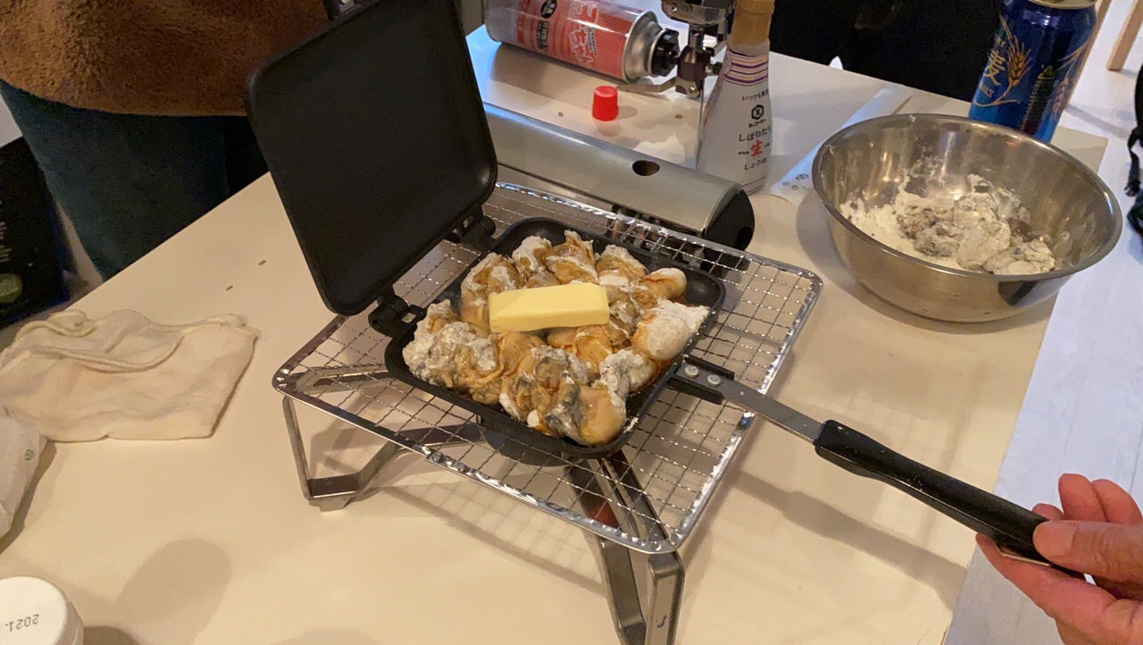 「ホットサンドメーカー」牡蠣のバター醤油 7