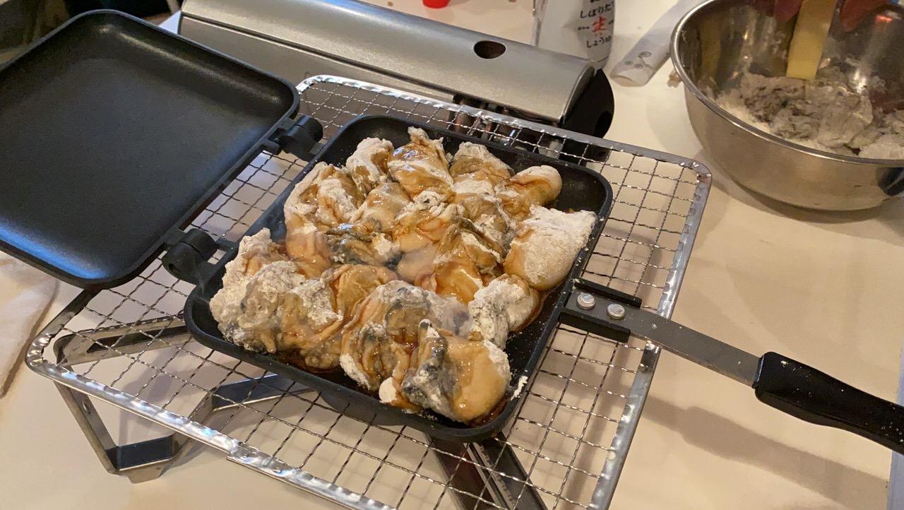 「ホットサンドメーカー」牡蠣のバター醤油 6