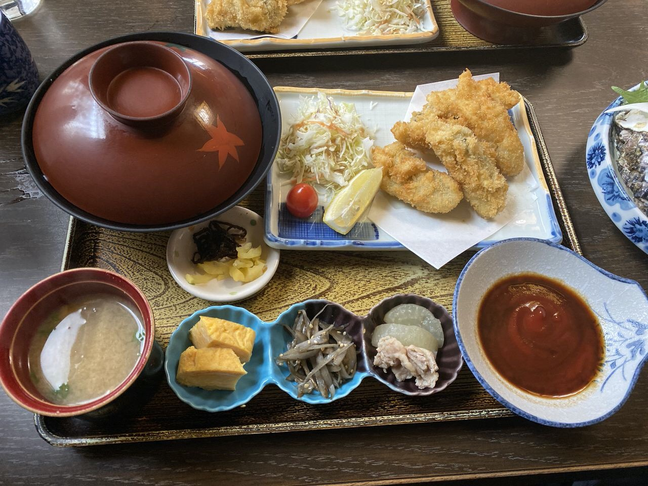 「かき友」牡蠣刺し・カキフライ定食(呉)12