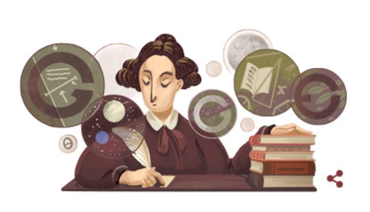 Googleロゴ「メアリー・サマヴィル」に