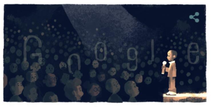 Googleロゴ「ンコシ・ジョンソン」に