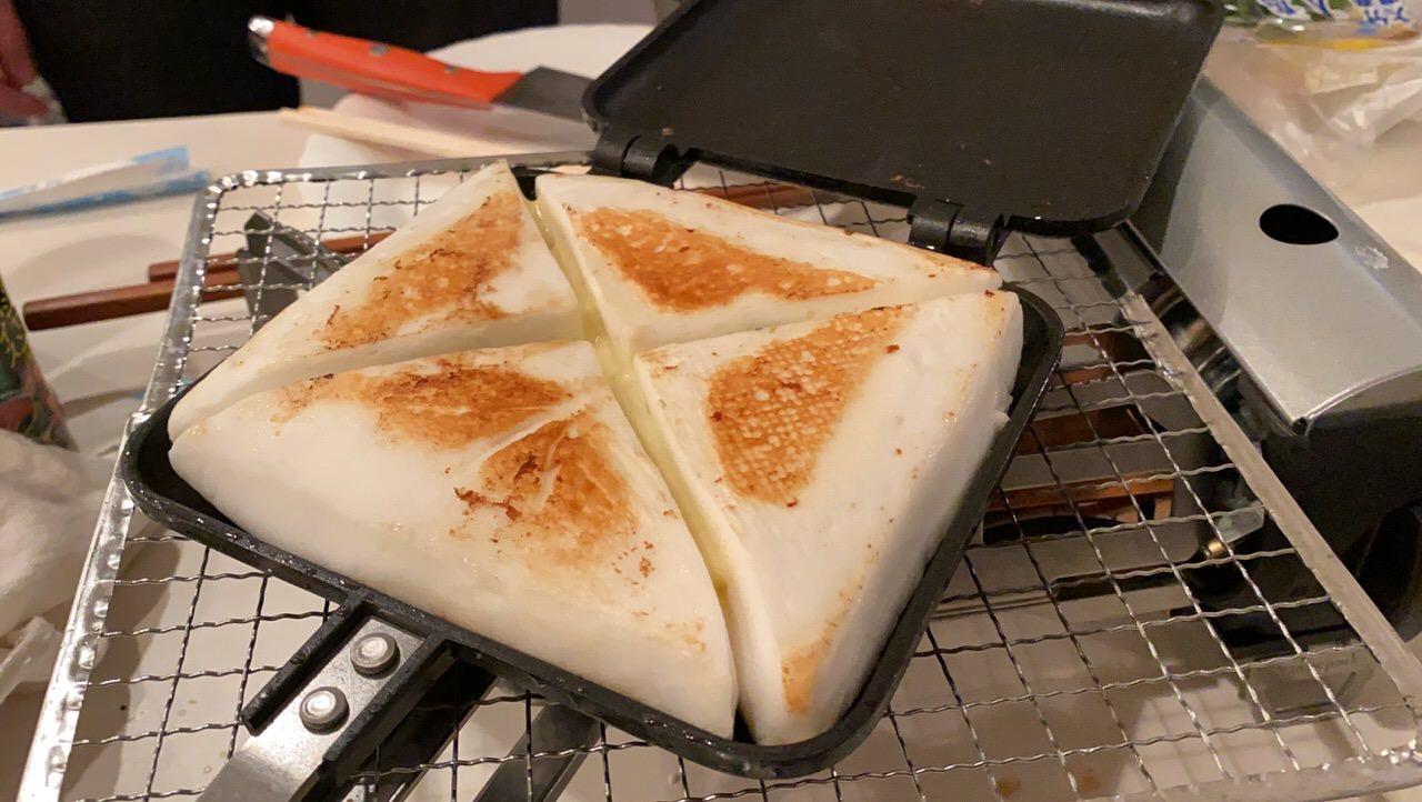 「ホットサンドメーカー」チーズ入りはんぺん 2