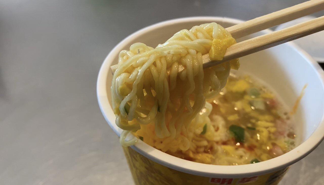「中華三昧 赤坂璃宮 かに玉風麺」6